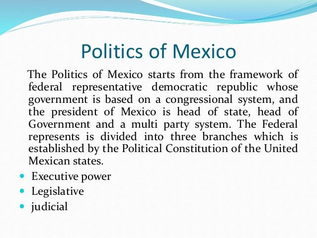 an introduction to the various political parties in mexico Types of interest groups but there is power in numbers, and political institutions are more likely to respond to a collective rather than to an individual voice an interest group is an organization whose members share common concerns and try to influence government policies affecting those concerns.