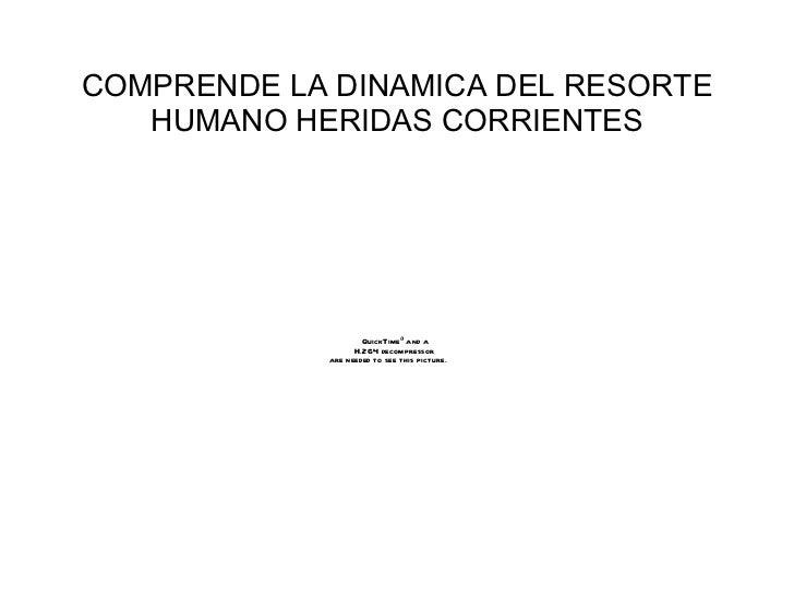 COMPRENDE LA DINAMICA DEL RESORTE HUMANO HERIDAS CORRIENTES