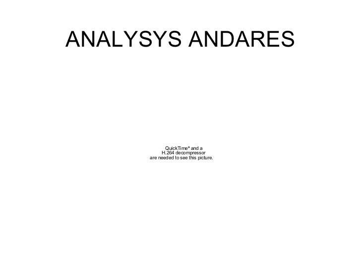 ANALYSYS ANDARES