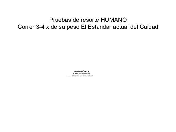 Pruebas de  re sorte   HUMANO Correr 3-4 x de su peso El Est and ar actual del Cuidad
