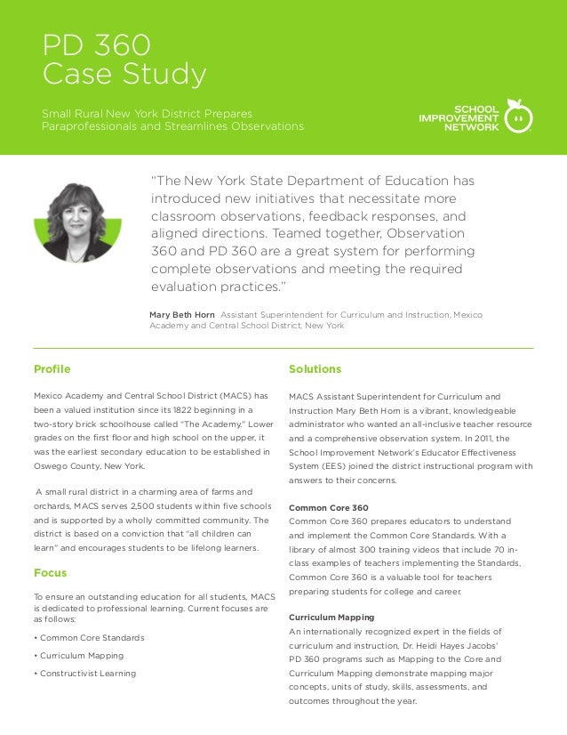 """PD 360 Case Study Small Rural New York District Prepares Paraprofessionals and Streamlines Observations """"The New York Stat..."""