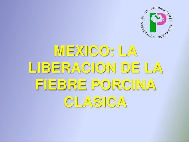 MEXICO: LA LIBERACION DE LA FIEBRE PORCINA CLASICA