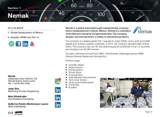 Page 14 Nemak's Products