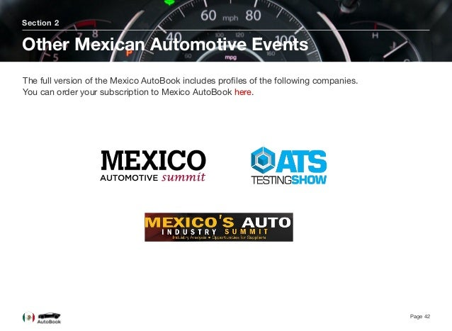 Mexico Automotive Reviewis based on a mix of interviews with the key stakeholders shaping the automotive industry from a ...