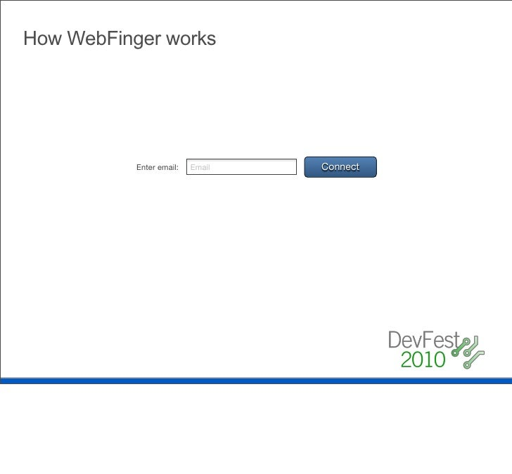 How WebFinger works Use host meta to retrieve an LRDD document                           $curl http://gmail.com/.well-know...