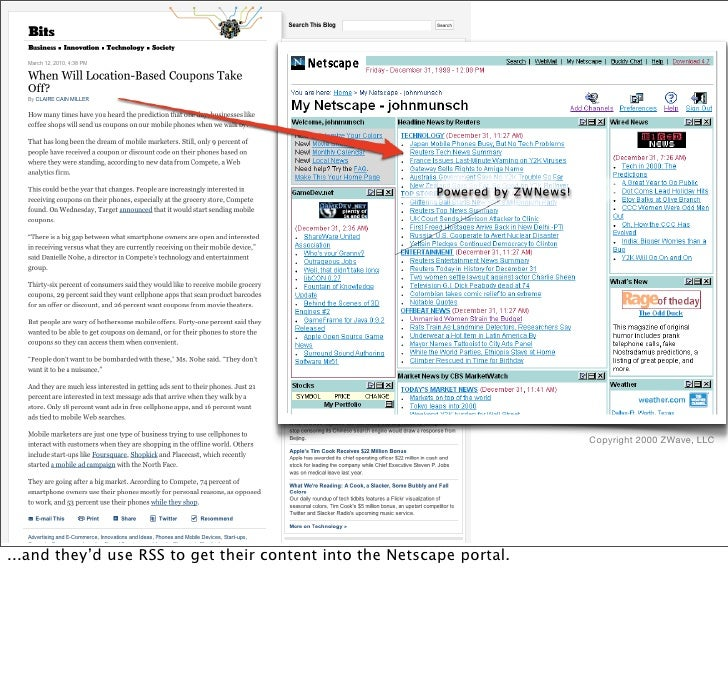 so, you take an article like this, turn it into RSS or ATOM...