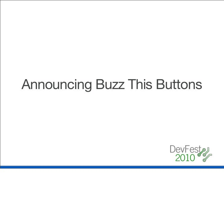 Announcing Buzz This Buttons