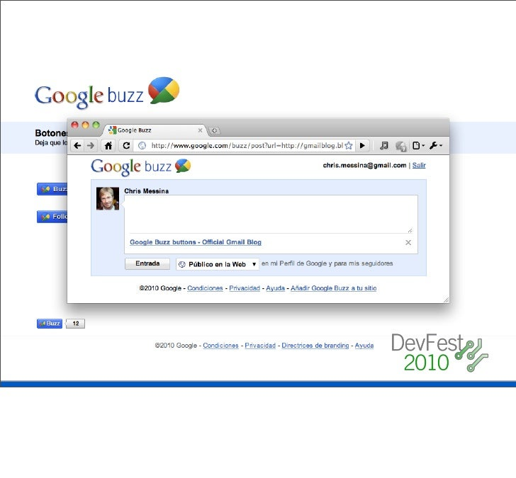 """"""" The best way to get a sense of where the Buzz API is     heading is to take a look at http://code.google.com/     apis/b..."""