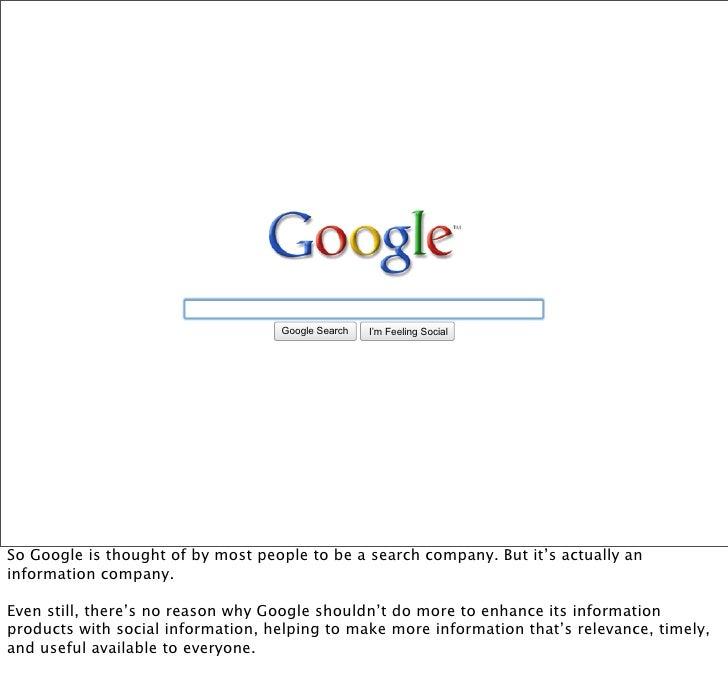 Google Search   I'm Feeling Lucky                                                                Social     So Google is t...