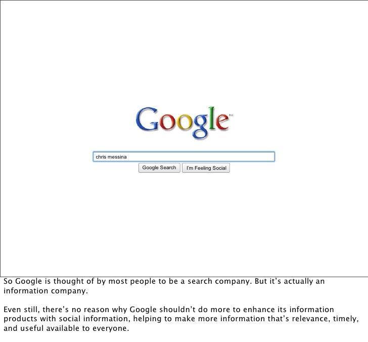 chris messina                                         Google Search   I'm Feeling Lucky                                   ...