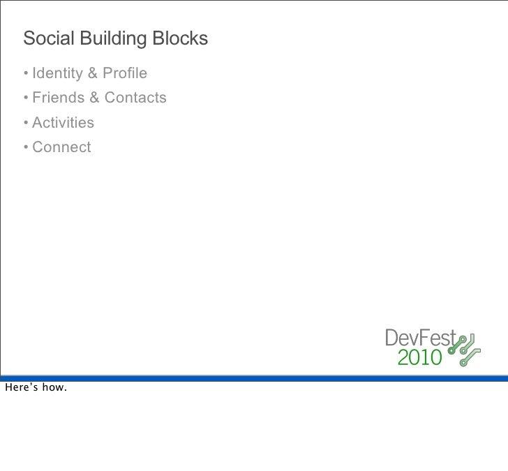Social Building Blocks