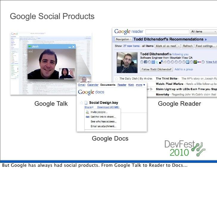 Google Social Products                  Google Talk                                           Google Reader               ...
