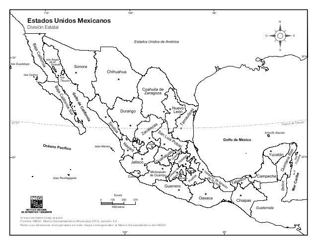 Mapa De Mexico Con Nombres Y Div Politica