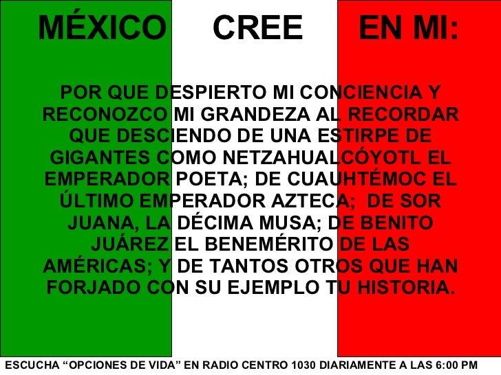 Mexico Cree En Mi Slide 3