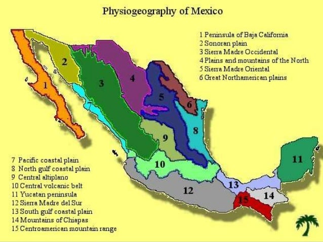 Mexican Plateau Map. There Are No Mountains On The Northern ...