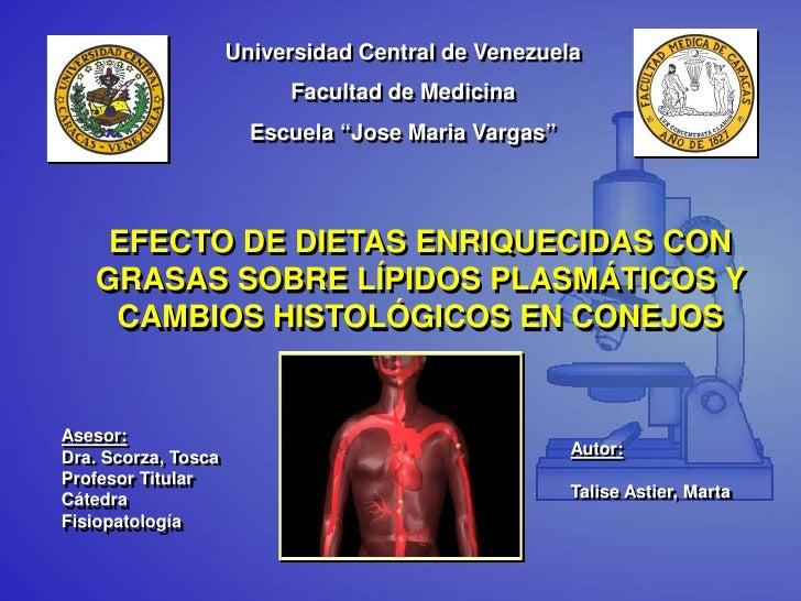 """Universidad Central de Venezuela                          Facultad de Medicina                       Escuela """"Jose Maria V..."""