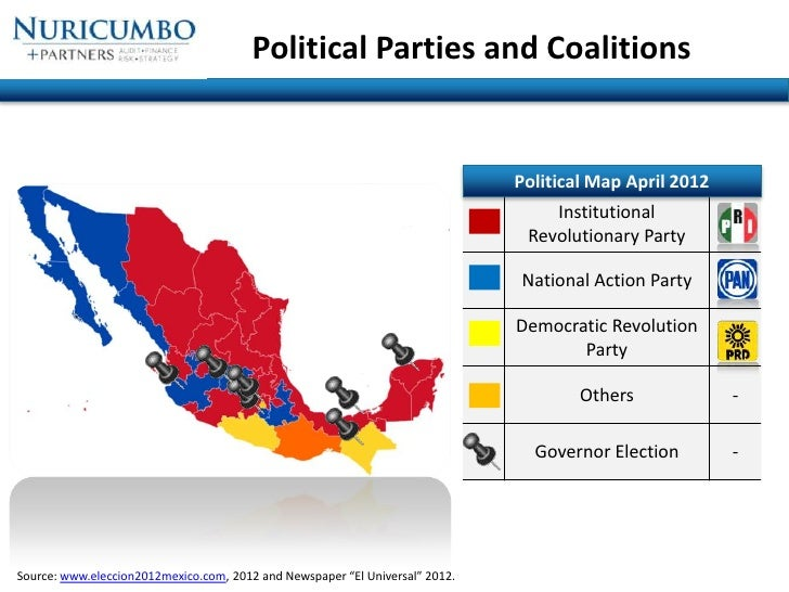 Mexico Political Update July - Mexico political map