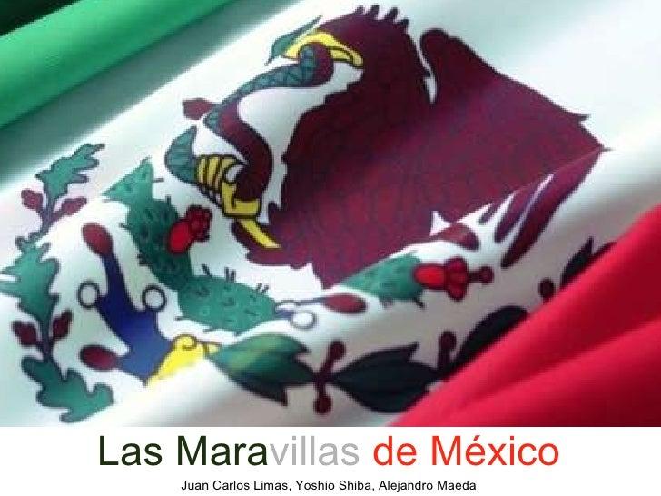 <ul><li>Las Mara villas   de México </li></ul><ul><li>Juan Carlos Limas, Yoshio Shiba, Alejandro Maeda </li></ul>