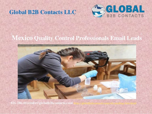 Mexico quality control professionals email leads