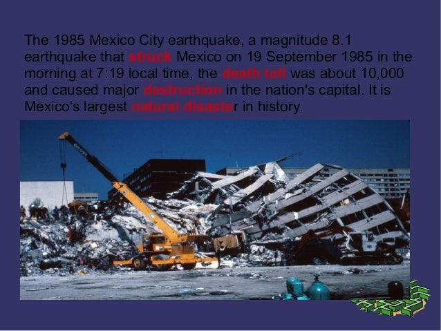 Mexicos 1985 earthquake