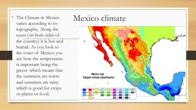 Mexicos Phosphate Problem - Mexico climate map
