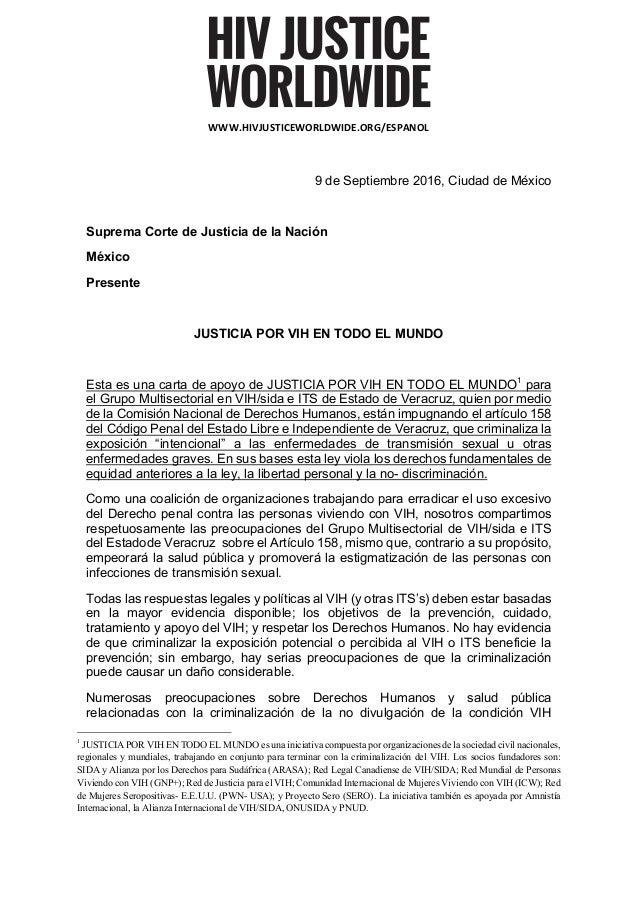 WWW.HIVJUSTICEWORLDWIDE.ORG/ESPANOL 9 de Septiembre 2016, Ciudad de México Suprema Corte de Justicia de la Nación México ...