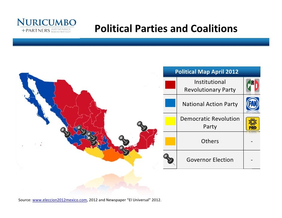 Political Parties and Coalitions Political Map April 2012 Institutio