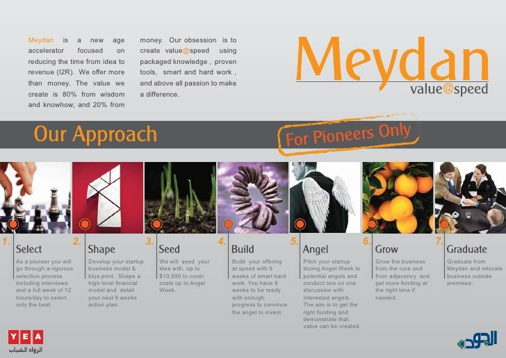 Meydan is a new age                    money. Our obsession is to          accelerator     focused    on          create v...