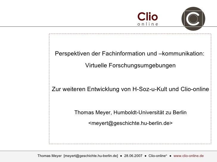 T. Meyer (clio-online.de) - Virtuelle Forschungsumgebungen