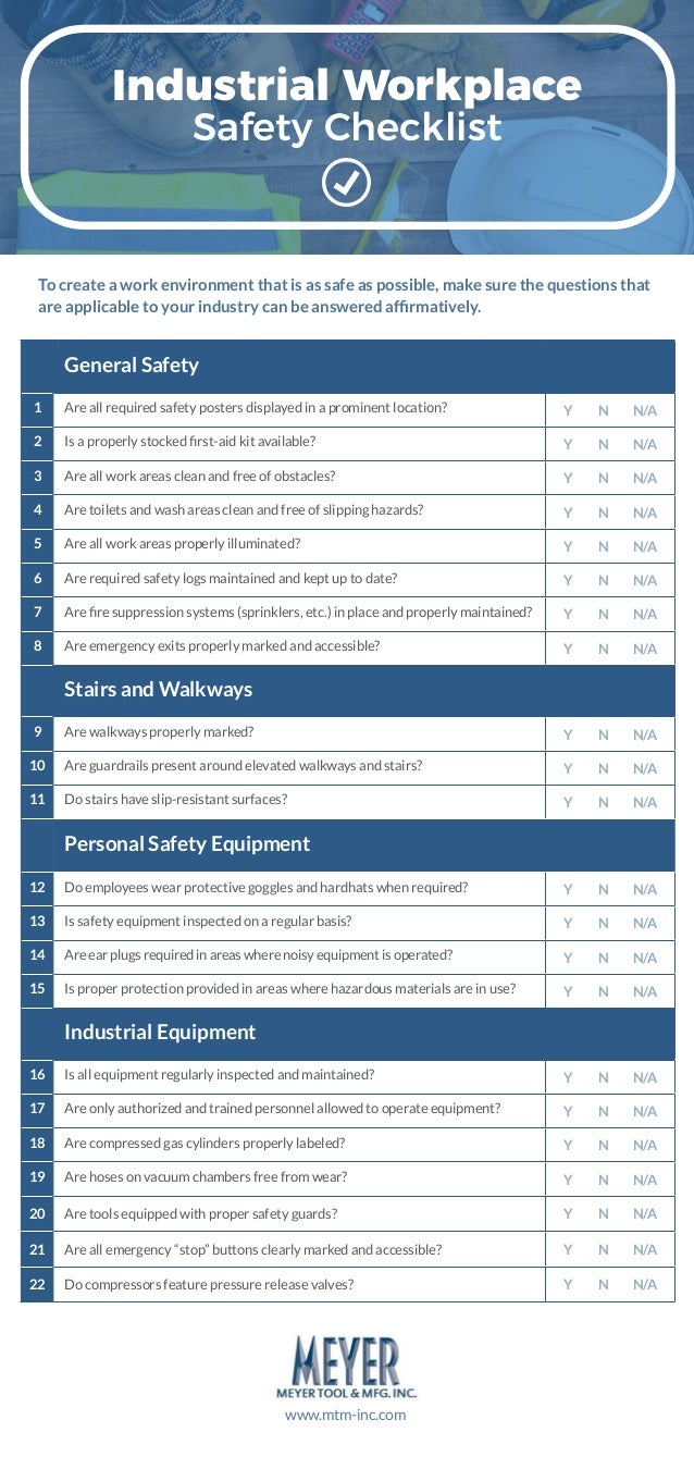 Industrial Workplace Safety Checklist