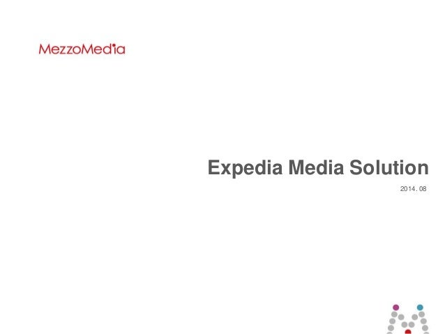 1 ⓒ 2014 MezzoMedia Inc. Expedia Media Solution 2014. 08