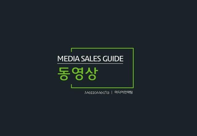 | MEDIA SALES GUIDE 동영상 미디어젂략팀