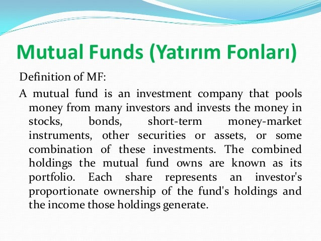 an explanation of a mutual fund and how it works How mutual funds work outlines the stock market, the bond market, asset   explaining the various difficult-to-understand aspects of the mutual funds industry.