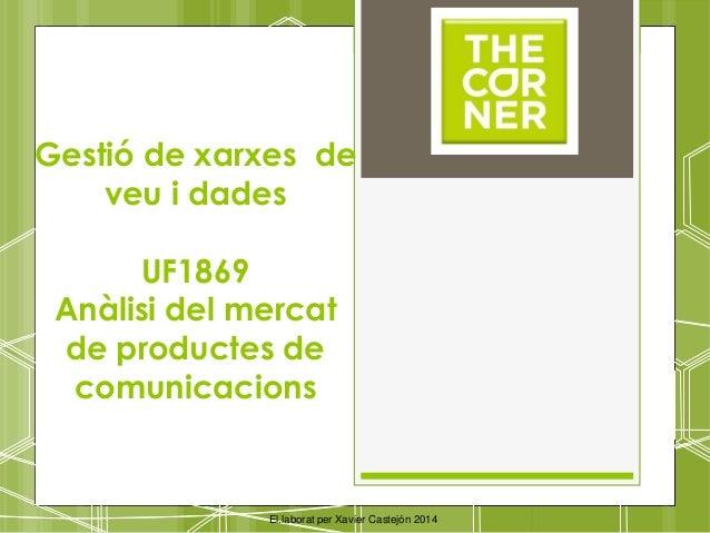 Gestió de xarxes de veu i dades UF1869 Anàlisi del mercat de productes de comunicacions El.laborat per Xavier Castejón 2014