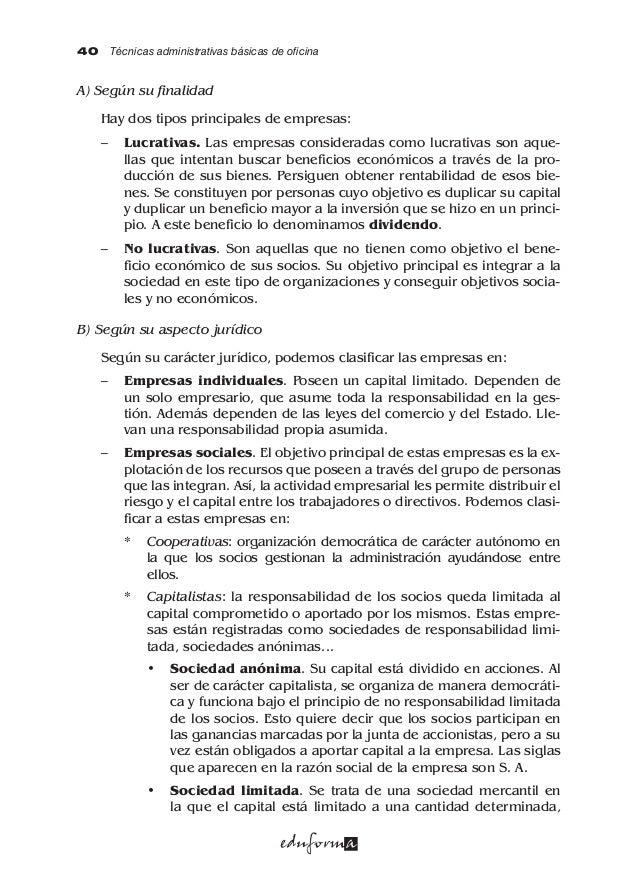Mf0969 1 tecnicas adm eduforma for Oficina administrativa definicion