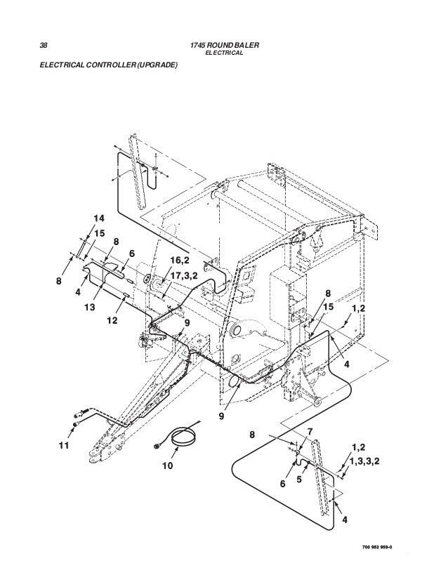 massey ferguson 1745 round baler parts book