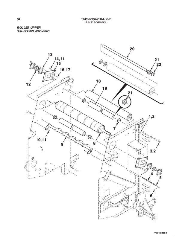 hay baler parts diagram
