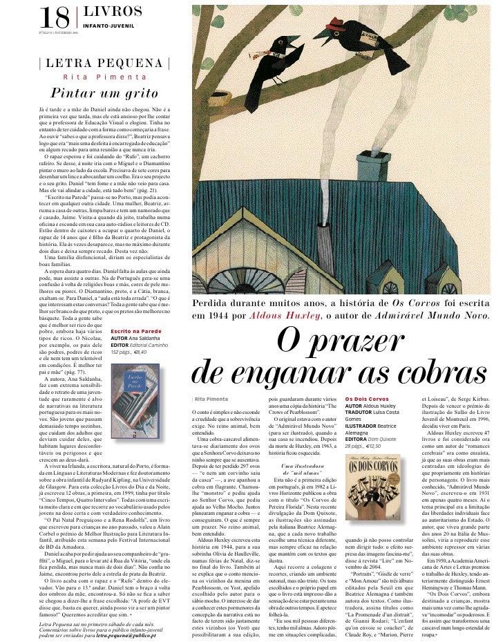 18 Público 5 novembro 2005                           livros                           infanto-juvenil       letra pequena ...