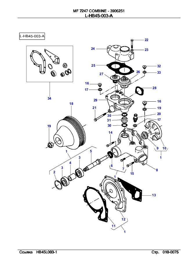 Massey ferguson MF 7247 Combine parts catalog
