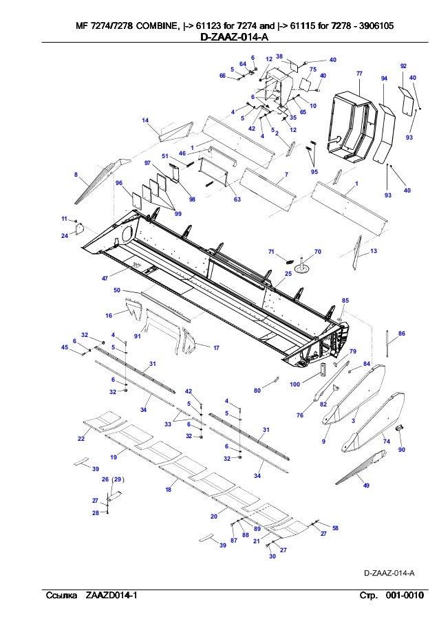 Massey ferguson Mf 7274 7278 parts catalog
