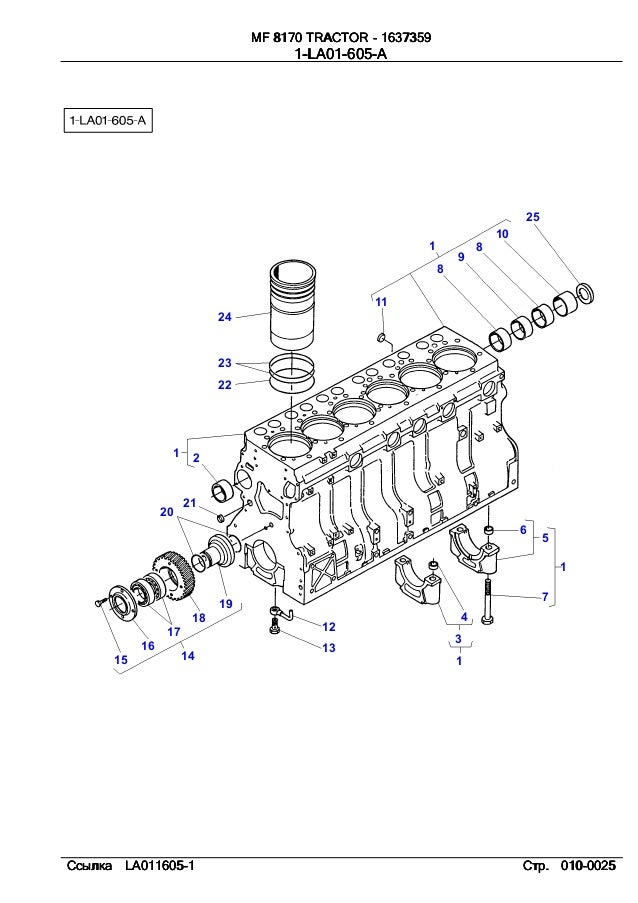 Massey ferguson Mf 8170 parts catalog