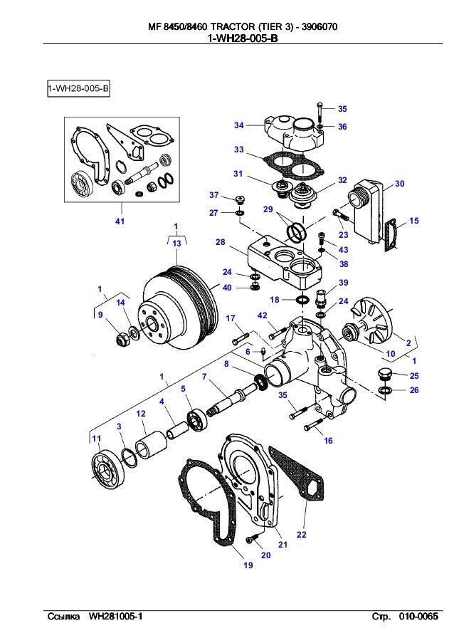 Massey Ferguson Mf 8450, 8460 tractor (tier 3) parts catalog