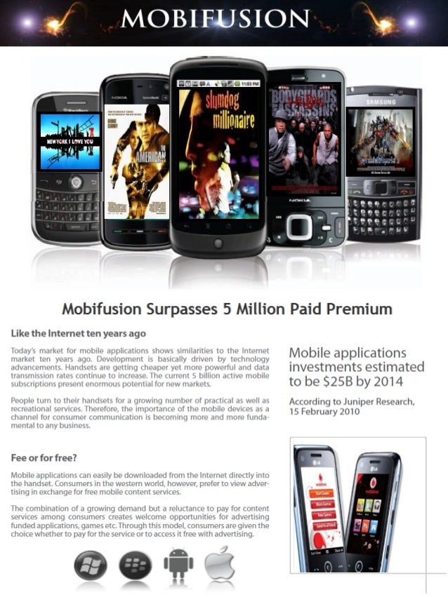 Mobile is the most influential medium in digital commerce and MobiFusion is taking full advantage of the vast opportunitie...