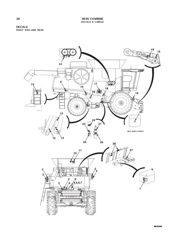 Massey Ferguson 9895 combine parts catalog