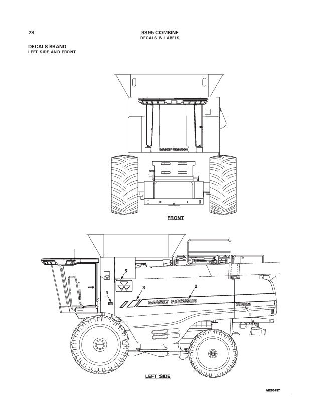 Massey Ferguson 9895 Combine Parts Catalog
