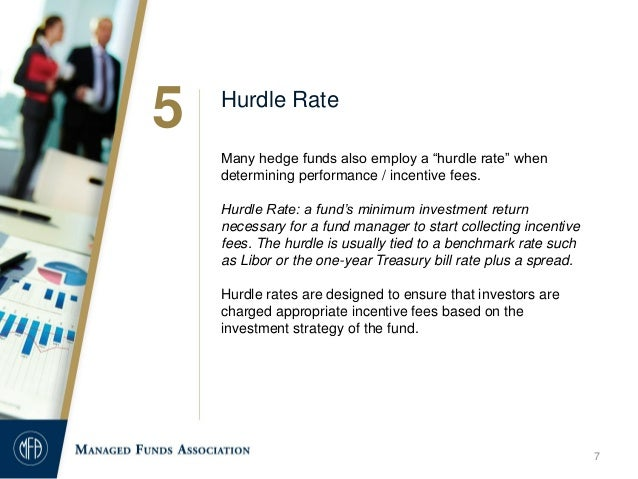 investment and hurdle rates Hedge fund hurdle rate 3 replies when a manager decides on an investment program and how he will be able to sell his program to investors .