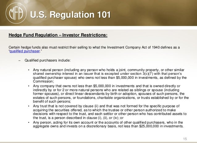 U.S. Regulation 101: Guide to U.S. Oversight of the Hedge Fund Indust…