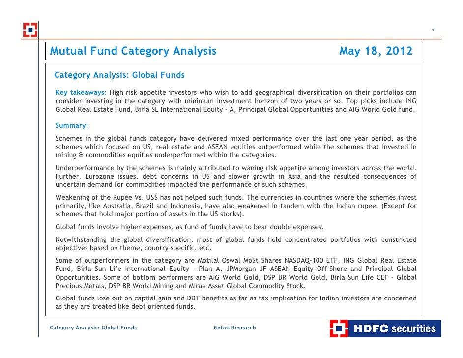 1Mutual Fund Category Analysis                                                               May 18, 2012 Category Analysi...