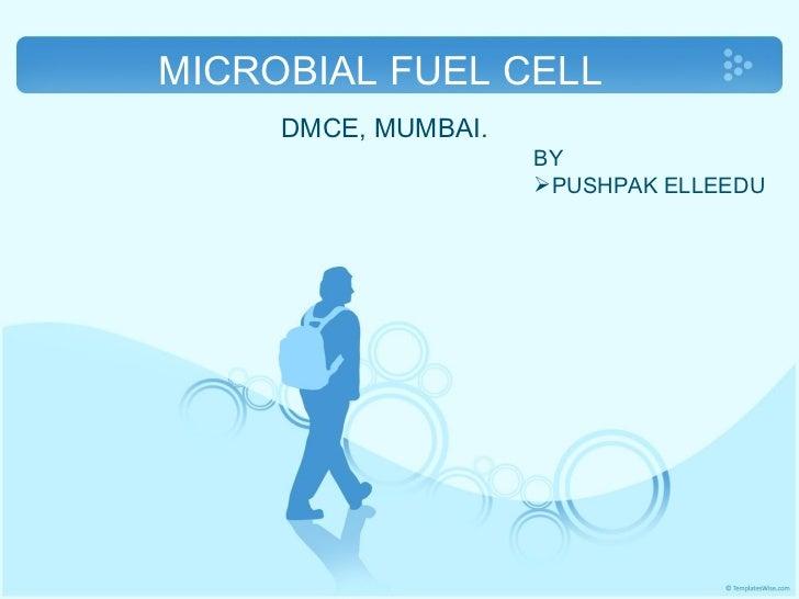 MICROBIAL FUEL CELL  DMCE, MUMBAI. <ul><li>BY </li></ul><ul><li>PUSHPAK ELLEEDU </li></ul>