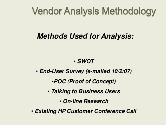 Mfd Vendor Analysis Presentation